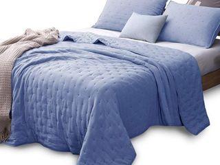 Kasentex Quilt Bedspread Set Soft Machine Washable Hypoallergenic  Retail 77 98