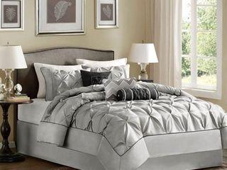 Madison Park lafayette Grey Comforter Set  Retail 149 99