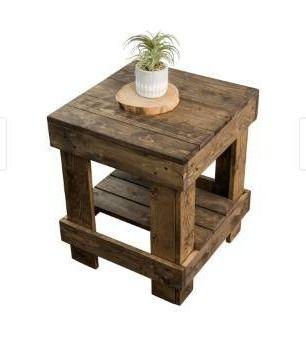 landmark Pine Wood End Table   Dark Walnut brand Del Hutson Designs