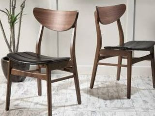 Anise leather Dining Chair  Set of 2  by Christopher Knight Home