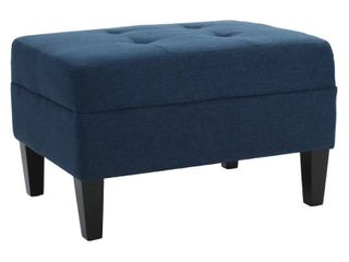 Zahra Tufted Fabric Ottoman by Christopher Knight Home  Retail 129 99
