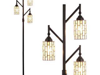 71  lewis tiffany Style Multi light lED Floor lamp Bronze  Includes Energy Efficient light Bulb    JONATHAN Y