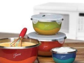 Fiesta 8 Piece Microwave Safe Mixing Bowl Set