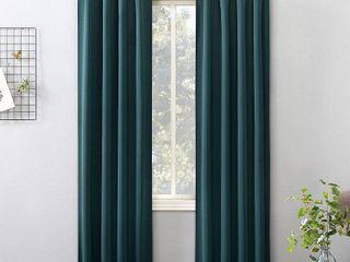 Set of 2 Sun Zero Hayden Energy Saving Blackout Tab Top Curtain Panel