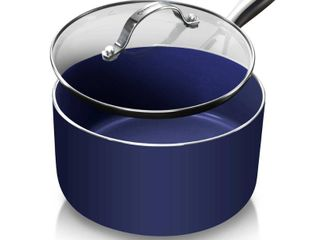 Granitestone Blue Non Stick 2 5 Qt Sauce Pot w lid  PFOA Free