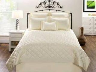 Carlyle Cream Solid Cotton Quilt set