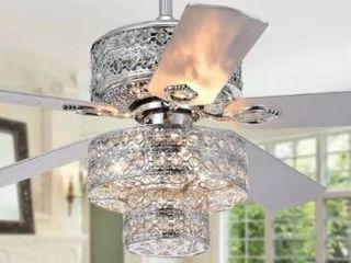 Chow Chrome 52 inch 5 Blade Ceiling Fan