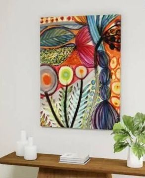 The Curated Nomad  Vivaces  Gallery Wrapped Canvas Art
