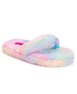 Women s Fluffy Flip Flop Slippers