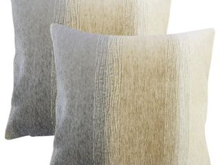 Set of 2 Vasska Ombre Throw Pillows in Charcoal  Retail 131 27
