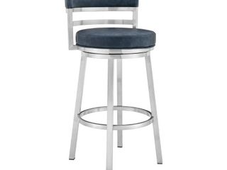 Madrid Contemporary Bar or Counter Height Swivel Stool  Retail 287 49
