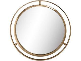 Glitzhome 24 D Deluxe Round Gold Mirror  Retail 106 99