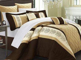 Queen 8pc Arlington Comforter Set Gold   Chic Home Design