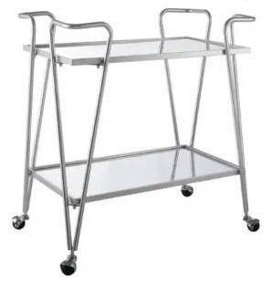 Rosa Gold Mid Century Bar Cart  Retail 147 99