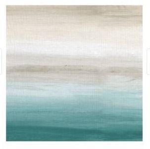 Masterpiece Art Gallery Turquoise landscape III Abstract by Willowbrook Fine Art Canvas Art Print