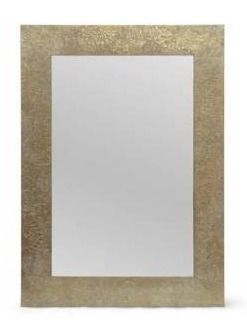 Charmaine Aluminum Fitted Mirror by Christopher Knight Home   0 60  D x 19 50  W x 27 50  H