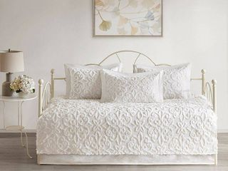 White Amber Cotton Chenille Daybed Set