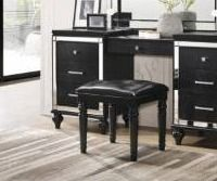 Valentino Black Vanity Table Stool  Retail 132 99