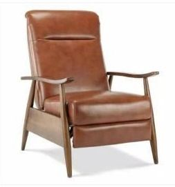 Sienna Wood Arm Push Back Recliner by Greyson living  Retail 653 49