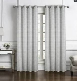 3 Panels Daven Jacquard Single Grommet Curtain Panel    3x  54 x 90 in