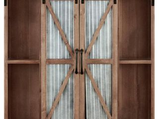 FirsTime   Co  Westerly Farmhouse Barn Door Cabinet  Wood  34 x 5 5 x 33 in  American Designed   34 x 5 5 x 33 in  Retail 157 99