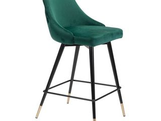 Piccolo Counter Chair Green Velvet