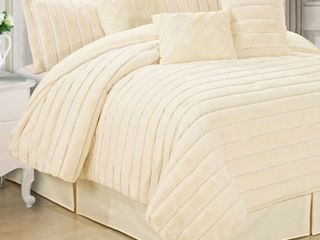 Serenta Rabbit Faux Fur 7 Piece Comforter Sets