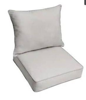 Stone Deep Seating Corded Chair Pillow and Cushion Set by Havenside Home  Retail 172 49