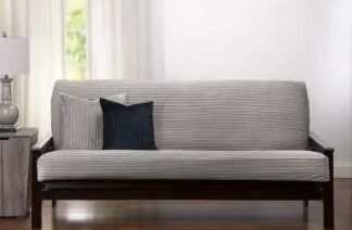 Downy Taupe Futon Cover  Retail 131 49