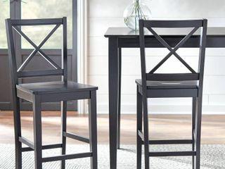 Virginia Cross back 30 inch stool  Set of 2  Retail 180 62