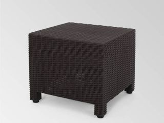 Waverly Outdoor Faux Wicker Print Side Table by Christopher Knight Home  Retail 83 99