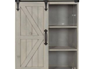 Kate and laurel Cates Decorative Wood Cabinet with Sliding Barn Door  Retail 169 99