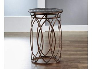 InnerSpace Marquise Antique Bronze Round Side Table  Retail 121 99