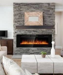 50 inch Ultra thin Electric Fireplace Insert for Wall mounted or In wall Installation  Retail 304 49