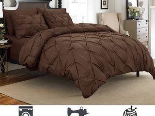 Porch   Den Secretariet Pinch Pleated Button Closure 3 piece Duvet Cover Set with Corner Ties Retail   39 99