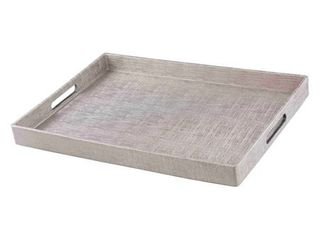 Home Basics Silver Metallic Weave Serving Tray Retail   32 99