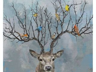 Masterpiece Art Gallery Nearest   Dearest Birds  Deer By Studio Arts Canvas Art Print  Retail 103 99