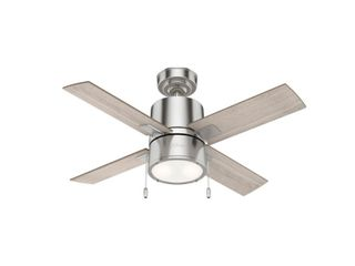 Hunter 42  Beck Brushed Nickel Ceiling Fan with lED light  Pull Chain   Brushed Nickel  Retail 158 49