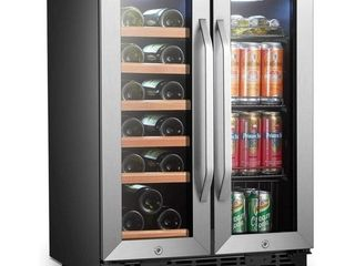 lanbo Built In or Free Standing 24  Wine and Beverage Side by Side Cooler   Retail 999 99