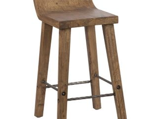 The Gray Barn Gold Creek Natural Elmwood low Back 30  Bar Stool  Retail 245 99