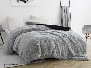 BYB Are You KiddingIJ Glacier Gray Black Coma Inducer Duvet Cover  Retail 124 99