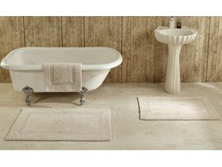 lux 100 percent Cotton Tufted Reversible Rug or Bath Mat by Better Trends Retail   37 87