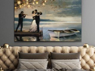 Wexford Home Twilight Romance Gallery Wrapped Canvas 32  x 48  Retail 103 49