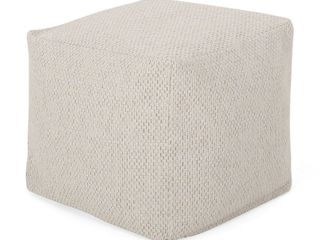 Camrose Contemporary Fabric Pouf by Christopher Knight Home Retail   65 69