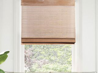 CHICOlOGY Cordless Bamboo Roman Shades  light Filtering Retail   42 74