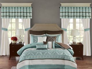 Madison Park Katarina Neutral 25 Piece Bedding set Retail   154 34