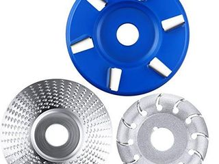 Angle Grinder Disc Wood Carving Disc Carving Abrasive Disc 12 Teeth Wood Polishing Shaping Disc and Wood Turbo Carving Disc in 6 Teeth for Polishing Sanding Carving Grinding Wheel Plate  3 Pieces