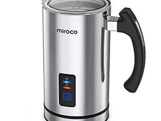 Miroco Milk Frother  Electric Milk Steamer Stainless Steel  Automatic Hot and Cold Milk Frother Warmer for latte  Foam Maker for Coffee  Hot Chocolates  Cappuccino  Heater with Strix Control  120V