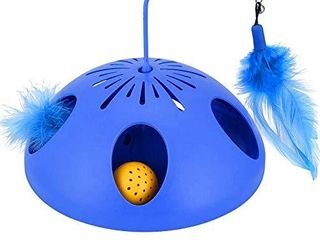 WINGPET Interactive Cat Toys 2 Speed Mode   Electronic Battery Operated Smart Automatic Motion Cat Toy  Spinning Feather Ball Track Puzzle Cat Toy   Exerciser Entertainment Hunting for Kitty Pet