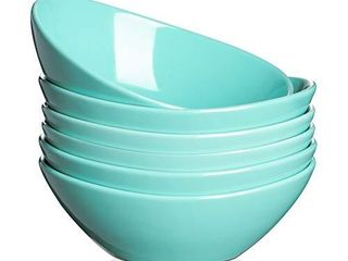 DOWAN 7  Oval Snack Bowls  Ceramic Pasta Bowls  Small Salad Serving Bowls  16 Ounce for Dessert  Side Dishes  Cereal  Rice  Ice Cream  Sturdy   Versatile  Microwave   Dishwasher Safe  Set of 6